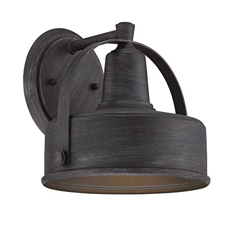 Designers Fountain 33121-WP Portland-DS - 8'' One Light Outdoor Wall Lantern, Weathered Pewter Finish by Designers Fountain