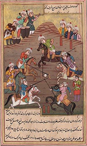 Persian Ottoman Turkish Style Handmade Miniature Painting Watercolor Paper Art - Ottoman Miniature Painting