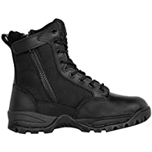 Maelstrom Men's TAC FORCE 8 Inch Waterproof Military Tactical Duty Work Boot with Zipper, Black, Size 12M