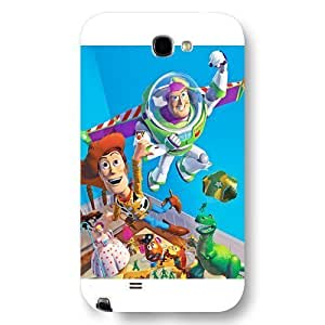 UniqueBox Customized Disney Series Phone Case for Samsung Galaxy Note 2, Lovely Cartoon Toy Story Samsung Galaxy Note 2 Case, Only Fit for Samsung Galaxy Note 2 (White Frosted Shell) Kimberly Kurzendoerfer