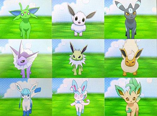 All 9 Shiny Eeveelutions For Pokemon Omega Ruby Alpha Sapphire XY (Shiny Pokemon)