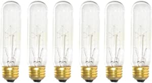 (Pack of 6) 60-Watt T10 Clear Tubular Incandescent Medium (E26) Base 120-Volt Light Bulb