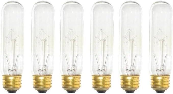 Bulbrite B60T10C 60-Watt Incandescent T10 Tubular Bulb No Model 120V 2 Clear