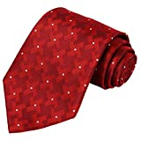 KissTies Extra Long Tie Dutch Windmill Pattern Tall Man Necktie, Burgundy Red