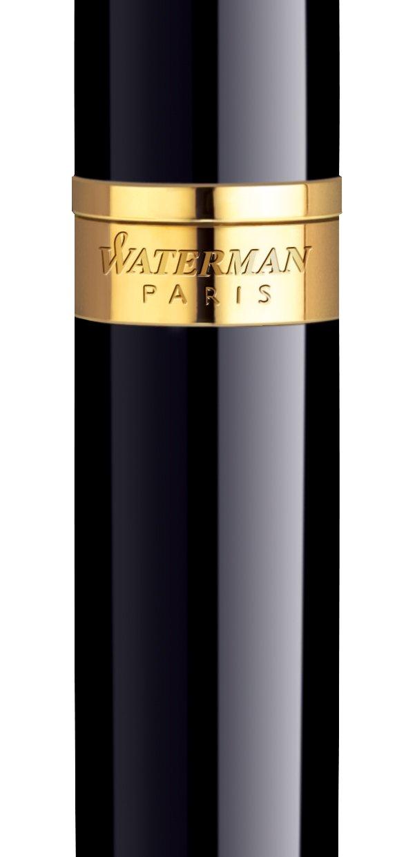 Waterman Hemisphere Black GT (Gold Trim) Fountain Pen Medium (S0920630) by Waterman (Image #2)