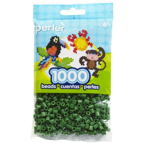 Perler Bead Bag Dark Green