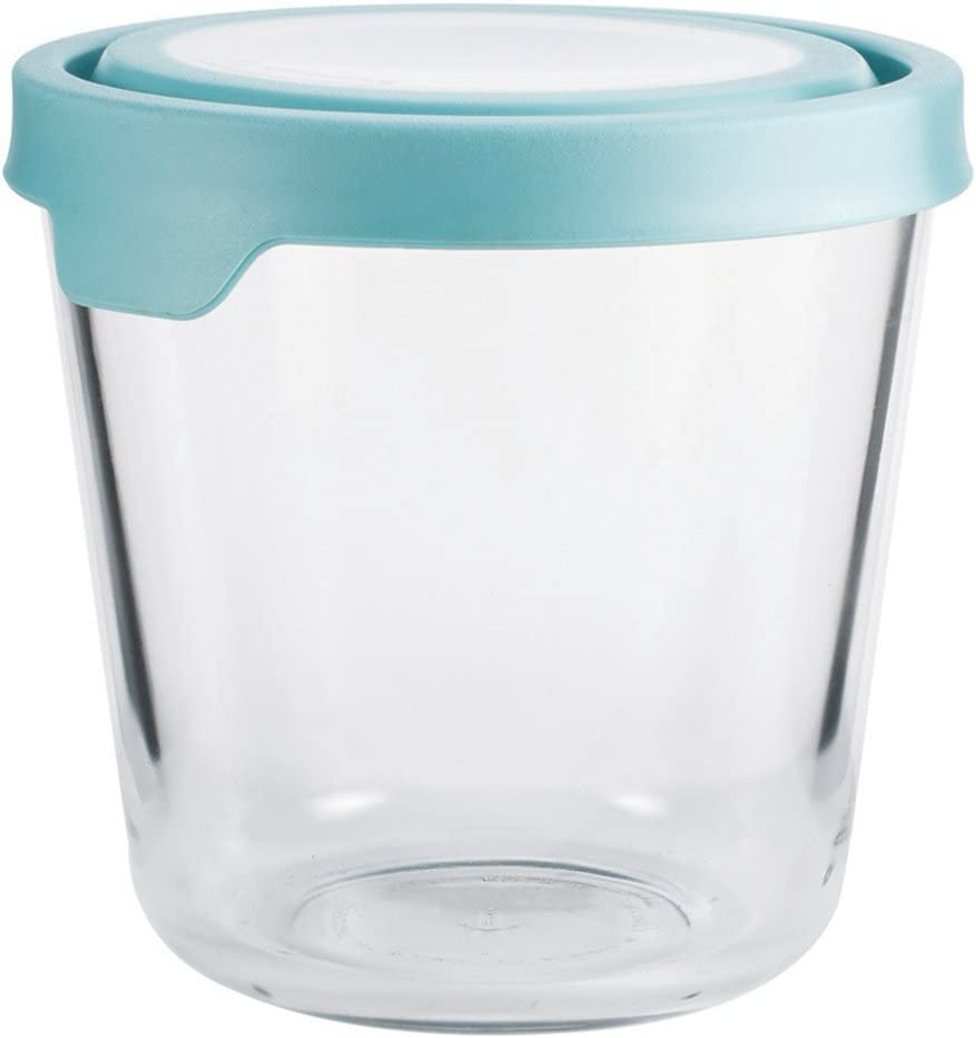 Anchor Hocking Storage & Food Preperation Glass Food Storage 7-Cup Tall Mineral Blue