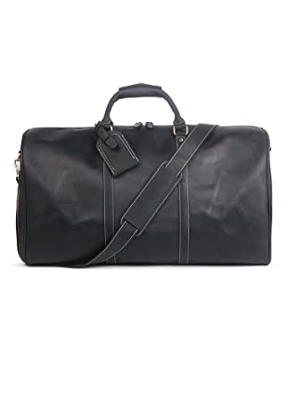 07175a78517a Amazon.com | Men's Travel Luggage Bag Crazy Horse Leather Large ...