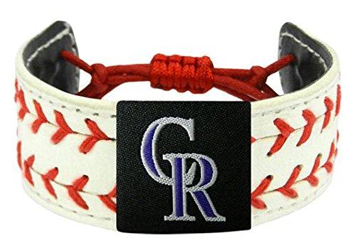 Colorado Rockies Classic Bracelets - MLB Colorado Rockies Classic Two Seamer Bracelet