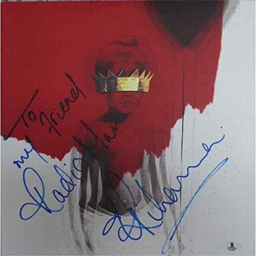 Rihanna Anti Signed Record Album LP Certified Authentic Beckett BAS COA