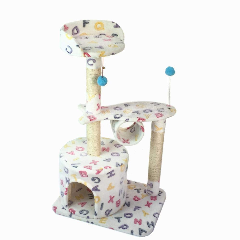 TOUYOUIOPNG Deluxe Multi Level Cat Tree Creative Play Towers Trees for Cats Pet cat Toy Grab Table Cat Scratch Board platform Cat Nest House cat Tree 56  41  99cm sheet rope Flannel (color   B)