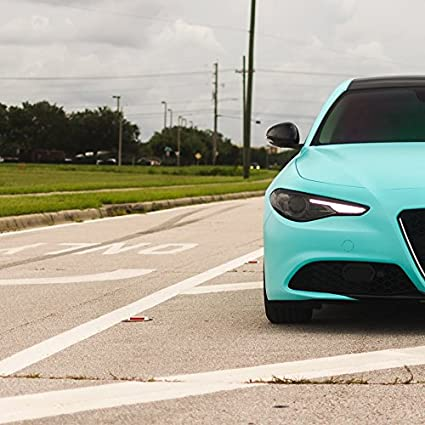 7,32 € //m PKW KFZ Folie dunkelblau glänzend 61,5 cm 3 m Autofolie