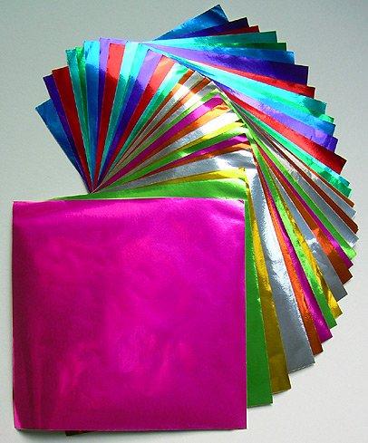 Origami Paper Assorted Color Foil 4.5