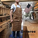 Briteree Woodworking Aprons for men, Gift for