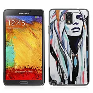Designer Depo Hard Protection Case for Samsung Galaxy Note 3 N9000 / Pop Art Native American Woman