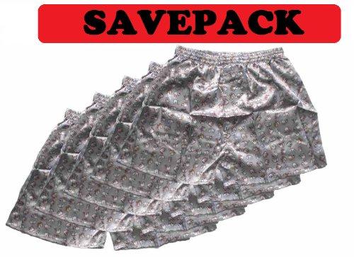 (L) Savepack Boxers Boxer Boxershort Short * * * 5pièces * * * éléphant sous-vêtements Homme Femme Fille Garçon Gris argenté einfachklever/Boxers