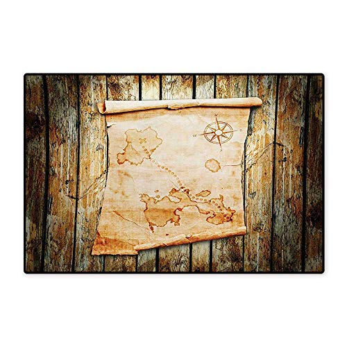 Island Map Door Mats for Inside Treasure Map on Rustic Timber X Marks The Spot of Gold Nautical Pirates Concept Floor mat Bath Mat 20