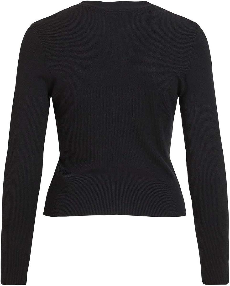 Object Objnina L//S Short Knit Cardigan Noos Maglione Donna