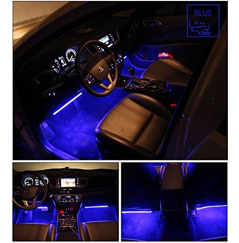 Car led strip lights wsiiroon 4pcs 48 led interior lights multi car led strip lights aloadofball Gallery