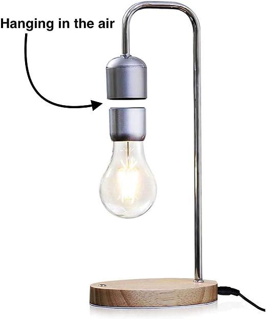 Lámpara de mesa flotante Aire suspendido Bombilla magnética Casa inteligente Inalámbrico Sin contacto De alta tecnología Futurista: Amazon.es: Iluminación