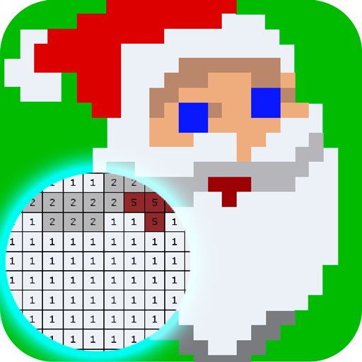 Color by Numbers Happy Christmas Pixel Art game (Christmas Draw Doodle Art)