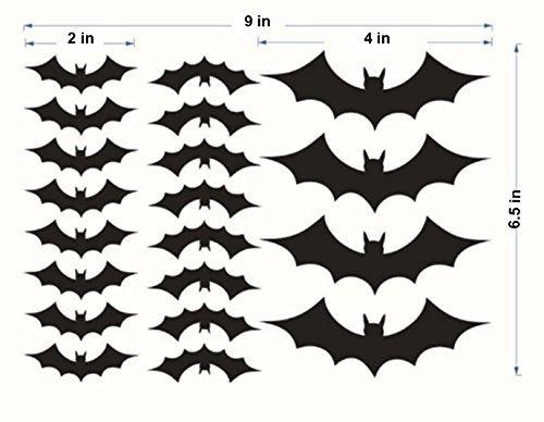 Schmidt Distribution Bat Decorations For Walls or Windows - 20 PVC Bat Decals -