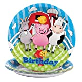 Farm 1st Birthday Dessert Plates - Theme Parties & Animals