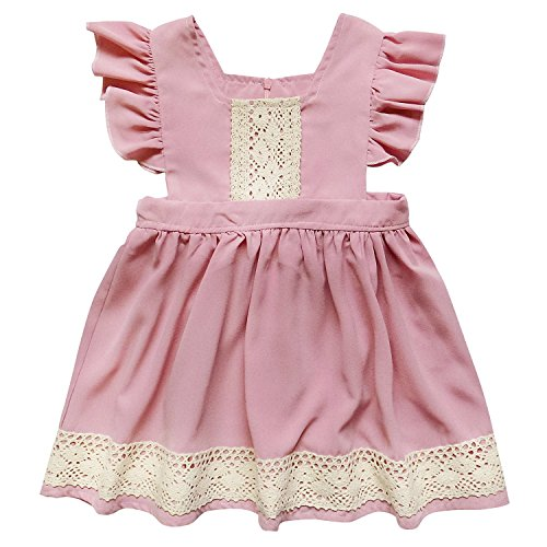 Rose Eyelet Dress - So Sydney Toddler & Girls Eyelet Lace Fancy Dress Collection (S (3T), Dusty Rose & Lace)
