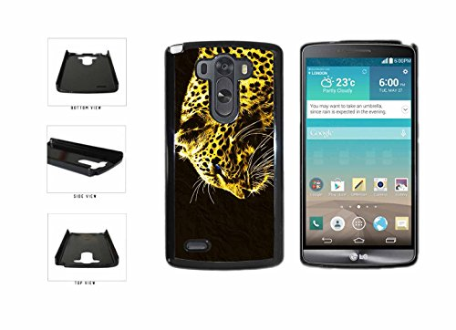BleuReign(TM) Blue Eyed Gold Cheetah Plastic Phone Case Back Cover LG G3 D855