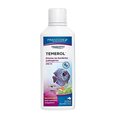 Temerol- Desinfectante para peces de acuario (agua dulce- agua