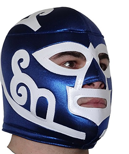 Pro Wrestling Halloween Costumes (HURACAN RAMIREZ Adult Lucha Libre Wrestling Mask (pro-fit) Costume Wear - Classic)