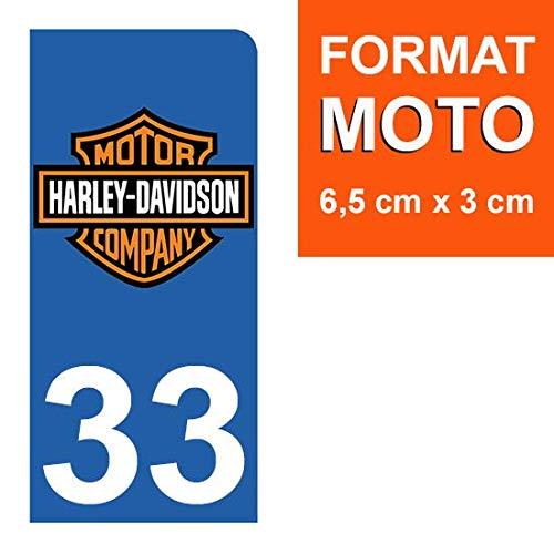 33 Gironde THELITTLESTICKER 1 Sticker pour Plaque dimmatriculation Moto Nos Stickers sont recouvert dun pelliculage de Protection sp/écifique Harley Davidson- Stickers Garanti 5 Ans