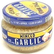 Spice World Minced Garlic 4.5 Oz Jar [Pack of 2]