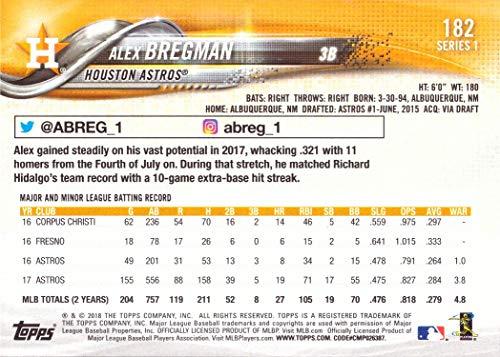 2018 Topps #182 Alex Bregman Baseball Card Future Stars
