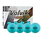 Volvik Vivid 3-Piece Premium Matte Finish Golf Balls - Jade Mint Green 12 Count Box
