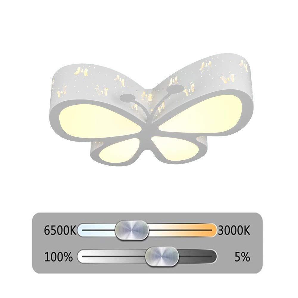 Kinder Deckenlampe Schmetterling LED Deckenlampe Junge Mädchen Schlafzimmer Deckenlampe für Wohnzimmer Zuhause Kinderzimmer,Weiß