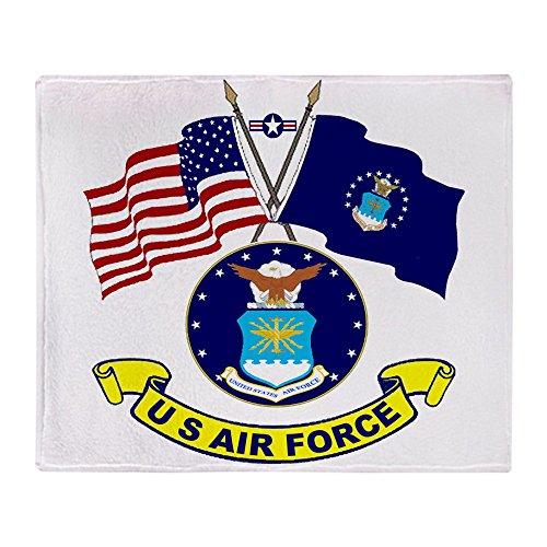 CafePress - USAF-USA Flags - Soft Fleece Throw Blanket, 50