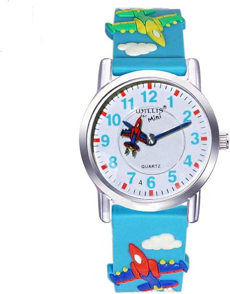 Children 3D Silicone Watch, Cartoon Kids Water Resistant Wristwatch, Toddler Pupils School Watch