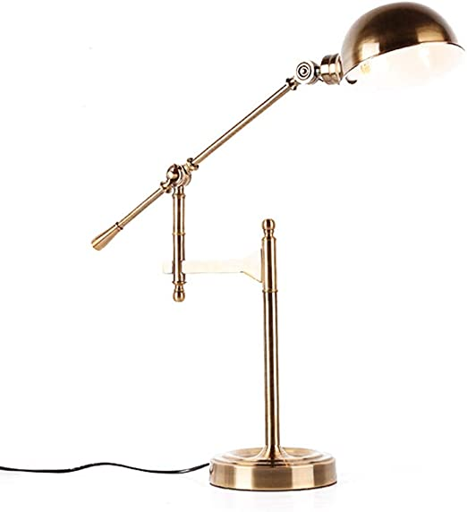 Lámpara de mesa industrial con brazo oscilante vintage - Luz de ...