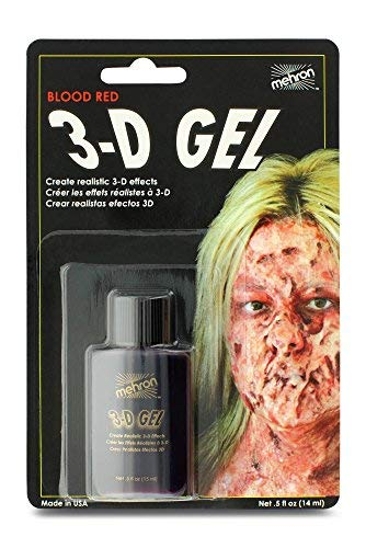 Mehron Makeup 3-D Gel (.5 oz) (Blood Red)