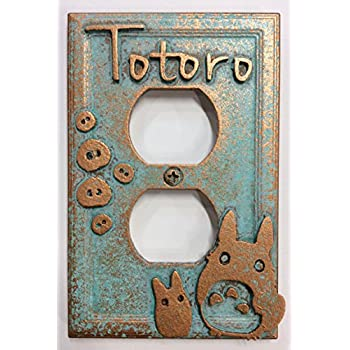 Amazoncom My Neighbor Totoro Light Switch Cover Aged Patina