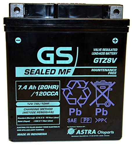 GTZ8V Factory Activated by GS BATTERY, a subsidiary of GS YUASA; The World's Leading Manufacturer of Powersports Batteries by GS Battery (Image #1)