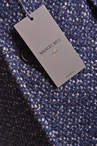 Manuel Ritz Homme MCBI325030O Bleu Laine Manteau