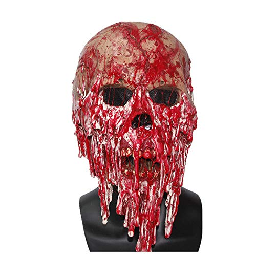 Halloween Skull Mask, Haunted House Secret Room, Bloody