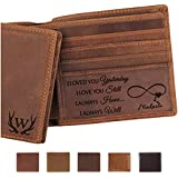 Custom Mens Engraved Leather Wallet,...