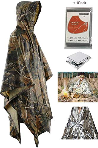 Unisex Simple Camuflaje Transpirable Poncho Brown Lanceyy Lluvia Estilo 1 Relajado De Impermeable Y Locker pdAf0q
