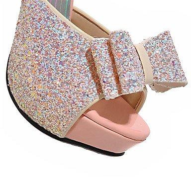 LvYuan Tacón Stiletto-Zapatos del club-Sandalias-Boda Vestido Fiesta y Noche-Purpurina Materiales Personalizados-Negro Rosa Blanco White