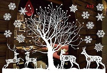 Lianji Christmas adesivo da parete rimovibile DIY finestra porta Natale Home Decor Approx 53x37.2cm A15