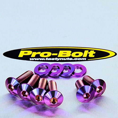 Titanium Footrest Hanger Bolt Kit lila