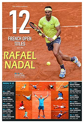PosterWarehouse2017 Rafael Nadal WINS HIS 12TH French Open Commemorative Poster